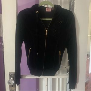 Juicy Couture Black Velour Hoodie